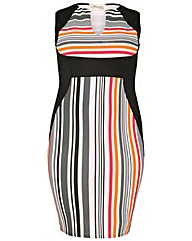 Sienna Couture Stripe Panel Dress