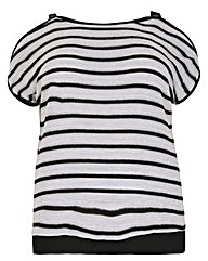 Samya Cold Shoulder Stripe Tee