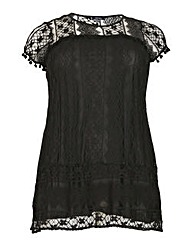 Samya Pom Pom Lace Tunic Top