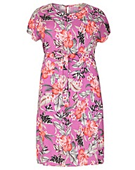 emily Floral Side Split Dress