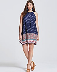 Girls On Film Paisley Print Dress