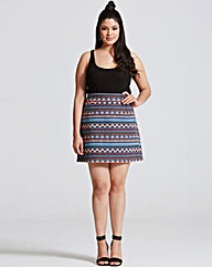 Girls On Film Aztec Print A Line Skirt