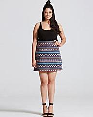 Girls On Film Aztec Print A Line Skirt
