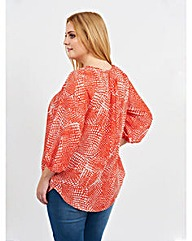 Koko Abstract Print Blouse