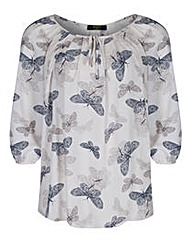 Koko Butterfly Blouse With Tie Neck