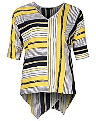 Koko Stripe Print Wrap Back Blouse