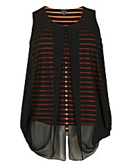Samya Stripe Top With Over Layer