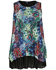 Samya Layered Abstract Print Top