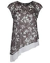 Koko Floral Print Diagonal Cut Tunic