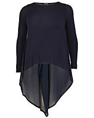 Feverfish Chiffon Tunic Dress