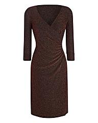 Lorraine Kelly Glitter Side Ruched Dress