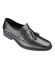 Formal Plain Toe Tassel Loafer Ex Wide