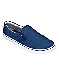 Basic Slip On Canvas Pump