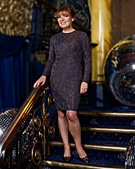 Lorraine Kelly Glitter Jacquard Dress