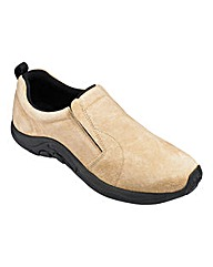 Suede Slip On Shoe Standard Fit