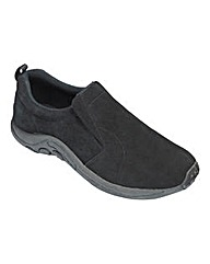 Suede Slip On Shoe Ex Wide Fit