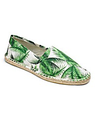 Palm Print Canvas Espadrilles