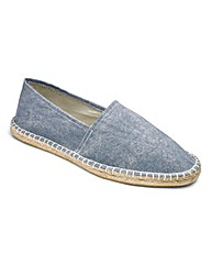 Chambray Canvas Espadrilles