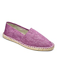 Washed Berry Canvas Espadrilles