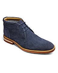 Navy Suede Lace Up Chukka Boot