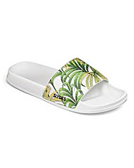 Slydes Palm Print Slider Flip Flops