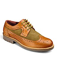 Trustyle Material Mix Lace Up Brogues