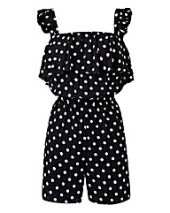 Martine McCutcheon Print Ruffle Playsuit