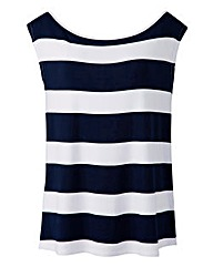 Jameela Jamil Oversize Stripe Top