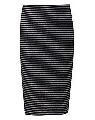 Stripe Glitter Tube Skirt
