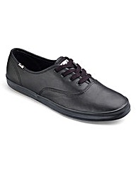 Keds Core Black Leather Trainers