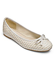 Heavenly Soles Ballerina Flats E Fit