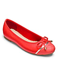 Heavenly Soles Ballerina Flats EEE Fit