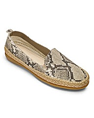 The Flexx Leather Espadrilles D Fit
