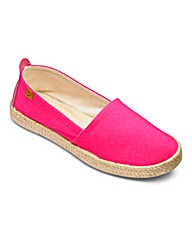 Heavenly Soles Slip On Espadrilles D Fit