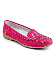 Heavenly Soles Suede Loafers E/EE Fit