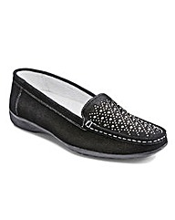 Heavenly Soles Suede Loafers EEE/EEEE