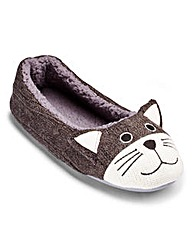 Sole Diva Cat Ballerina Slippers E Fit