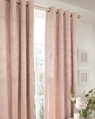 Butterfly Jacquard Lined Curtains & Ties