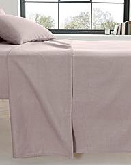 Extra Wide Cotton Flannelette Flat Sheet
