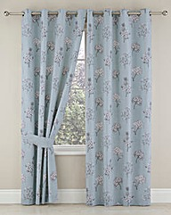 Tiffany Blackout Lined Eyelet Curtains