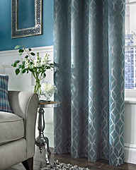 Harlow Jacquard Thermal Lined Curtains