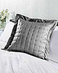 Satin Stitched Square Cushion
