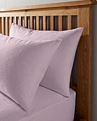 Value Plain Flannelette HW Pillowcase