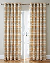 Denver Boucle Stripe Lined Curtain