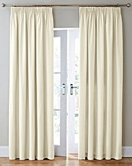 Canvas Thermal Blackout Pencil Curtains
