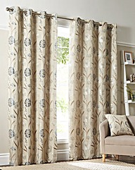 Santorini Floral lined Eyelet Curtains