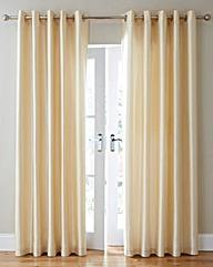 Faux Silk Eyelet Curtains