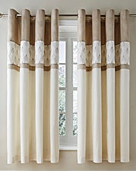 Harper Embroidered Lined Eyelet Curtains