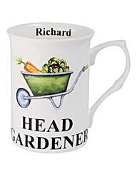 Head Gardener Mug Personalised