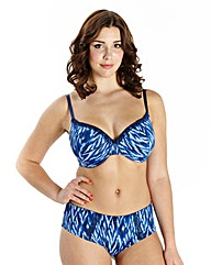2 Pack Wired T-Shirt Print Blue Bras